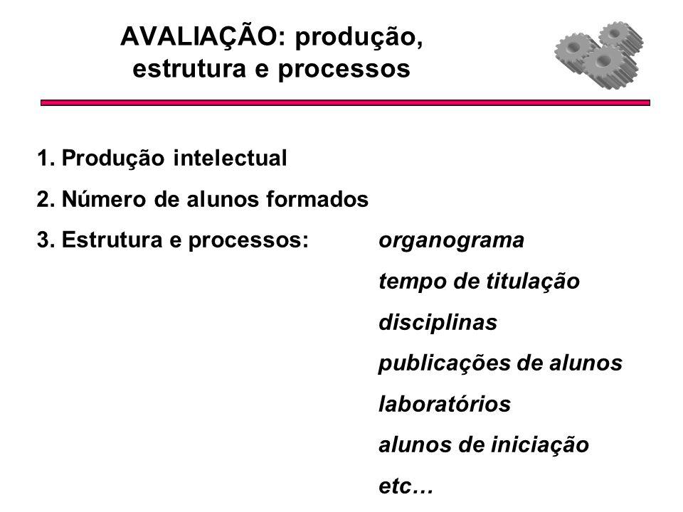 AVALIAÇÃO: produção, estrutura e processos