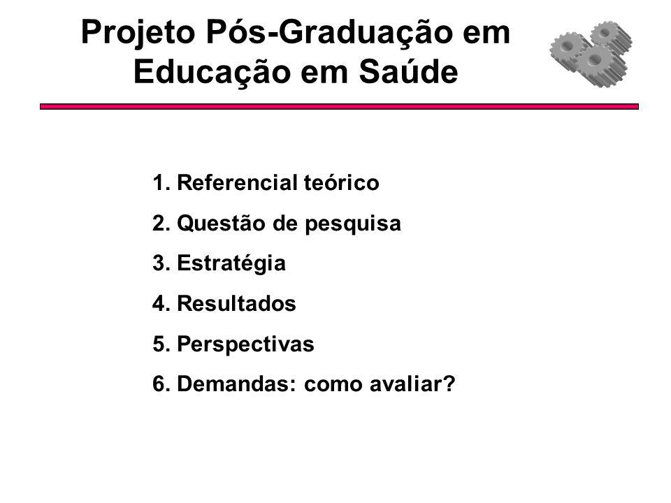 Projeto Pós-Graduação em Educação em Saúde