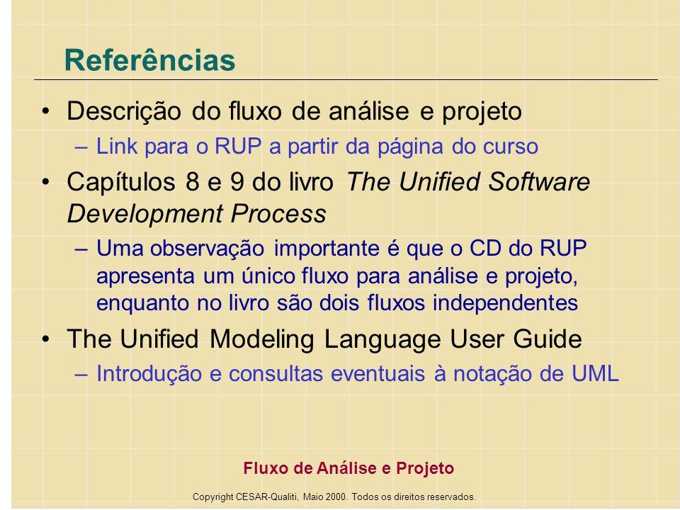 Copyright CESAR-Qualiti, Maio 2000. Todos os direitos reservados.