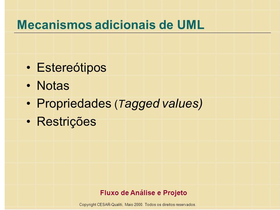 Mecanismos adicionais de UML