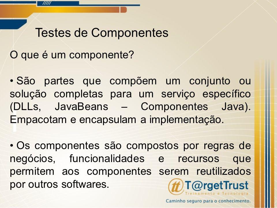 Testes de Componentes O que é um componente