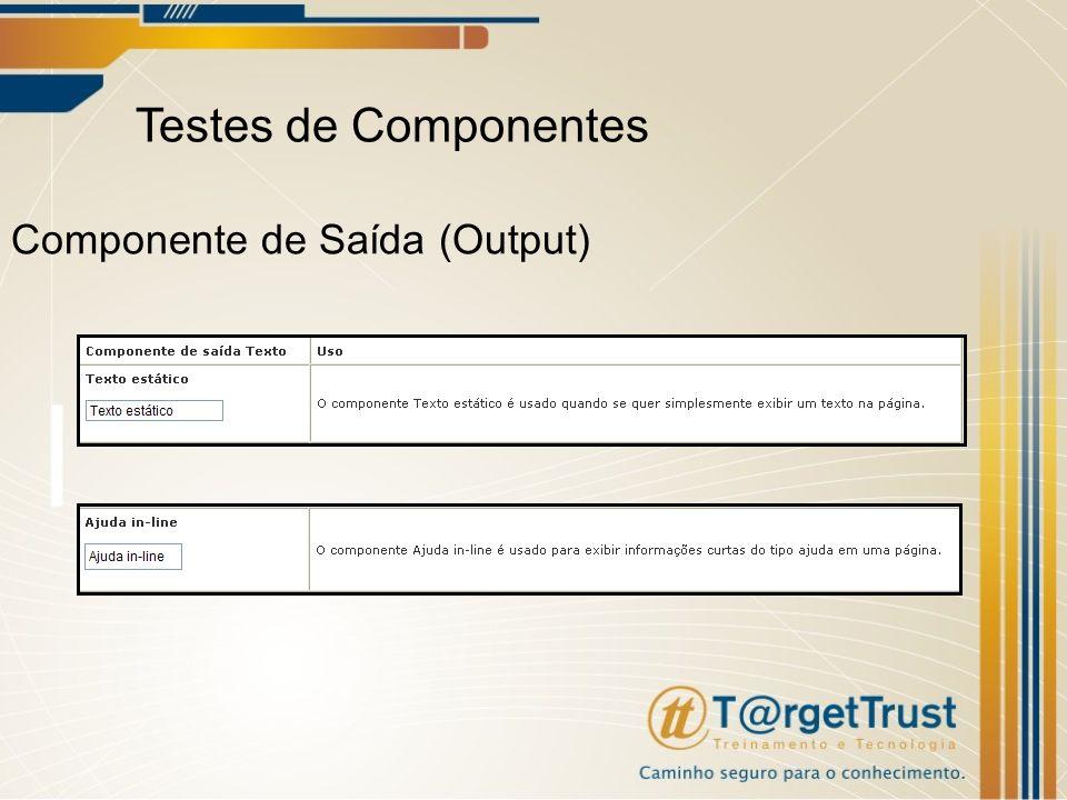 Testes de Componentes Componente de Saída (Output)