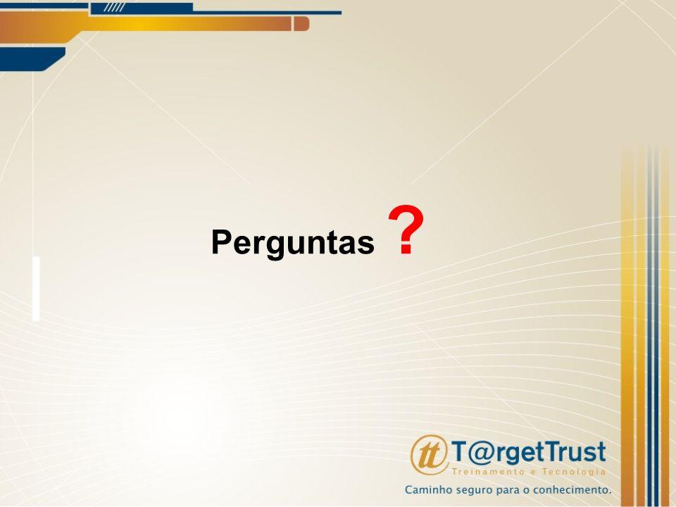 Perguntas Essa ultimo slide é somente para o ultimo capitulo.