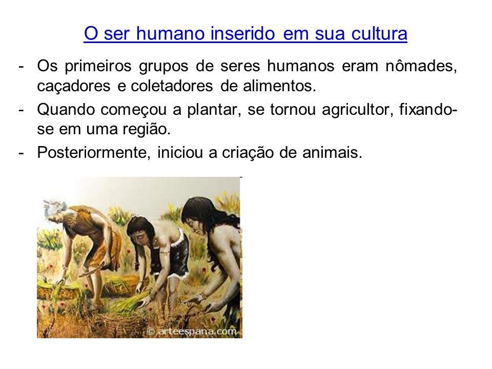 O ser humano inserido em sua cultura