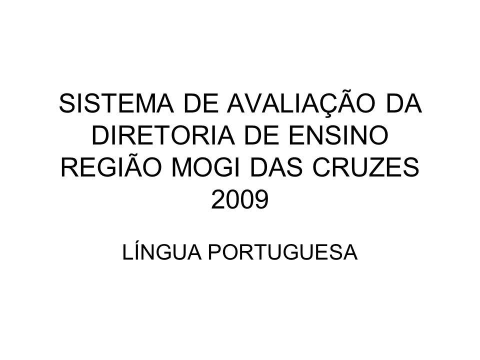 SISTEMA DE AVALIAÇÃO DA DIRETORIA DE ENSINO REGIÃO MOGI DAS CRUZES 2009
