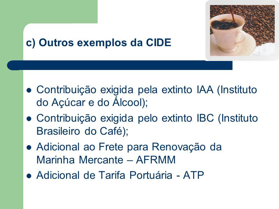 c) Outros exemplos da CIDE