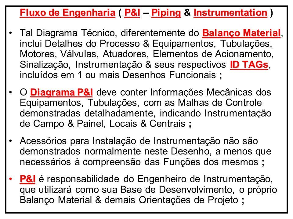 Fluxo de Engenharia ( P&I – Piping & Instrumentation )
