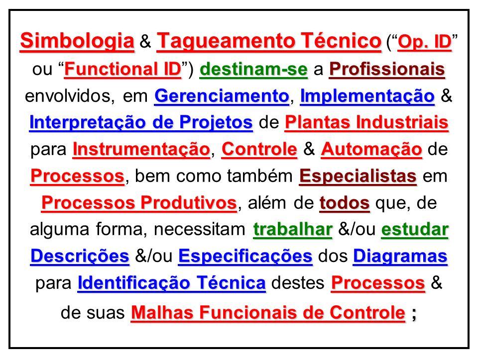 Simbologia & Tagueamento Técnico ( Op. ID