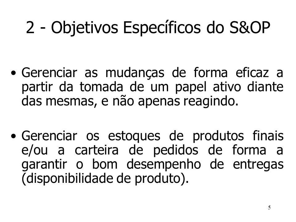 2 - Objetivos Específicos do S&OP