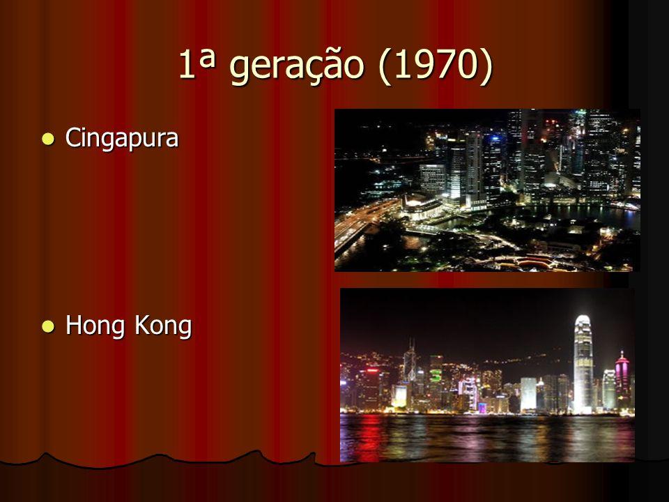 1ª geração (1970) Cingapura Hong Kong