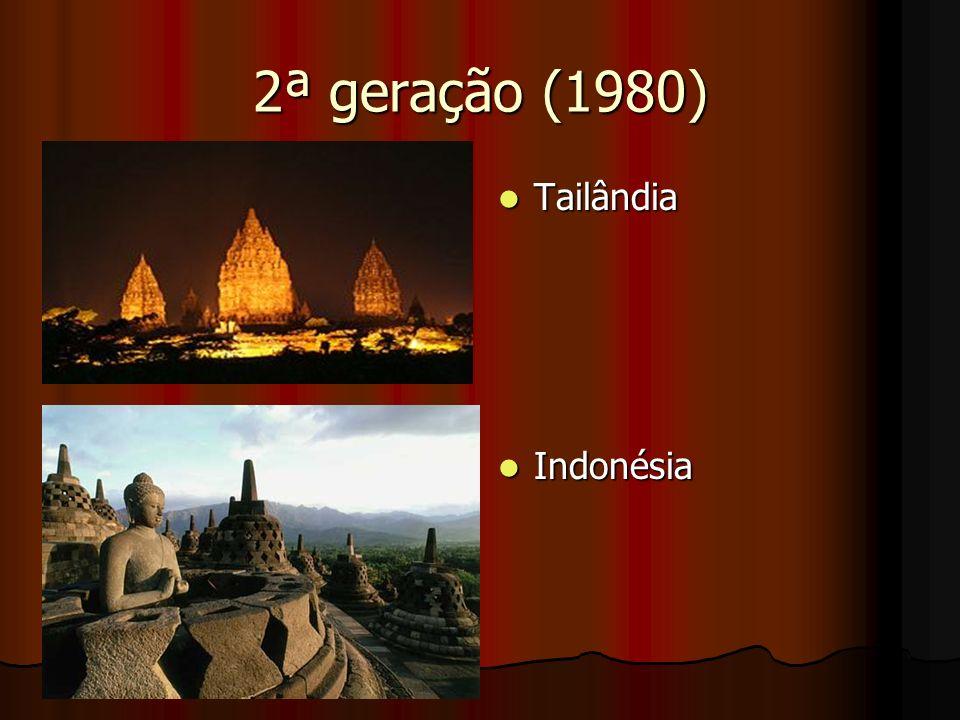 2ª geração (1980) Tailândia Indonésia