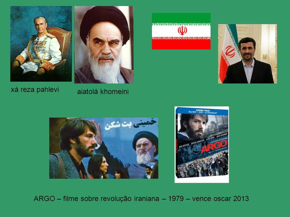 xá reza pahlevi aiatolá khomeini ARGO – filme sobre revolução iraniana – 1979 – vence oscar 2013