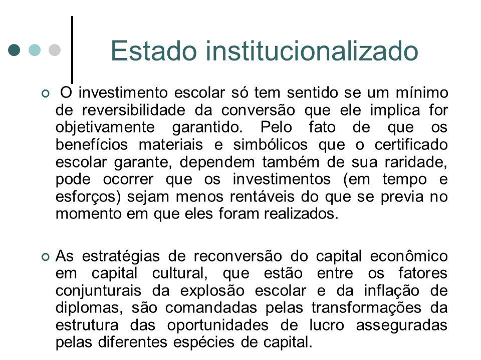 Estado institucionalizado