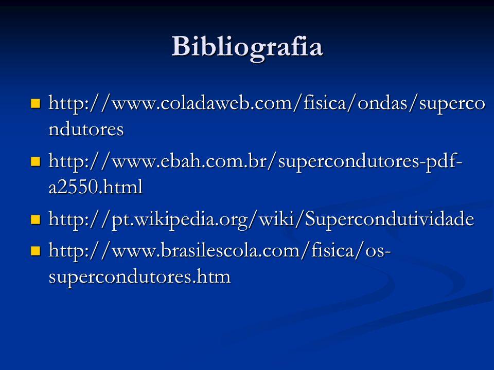 Bibliografia http://www.coladaweb.com/fisica/ondas/supercondutores