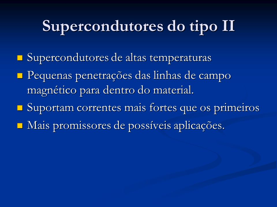 Supercondutores do tipo II