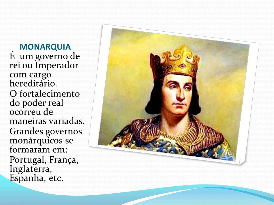 É um governo de rei ou Imperador com cargo hereditário.