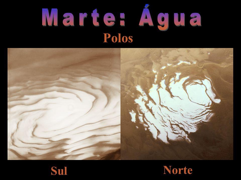 Marte: Água Polos Sul Norte