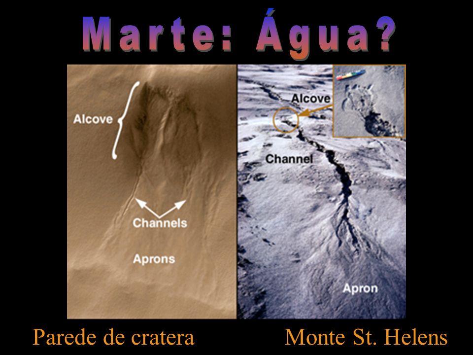 Marte: Água Parede de cratera Monte St. Helens