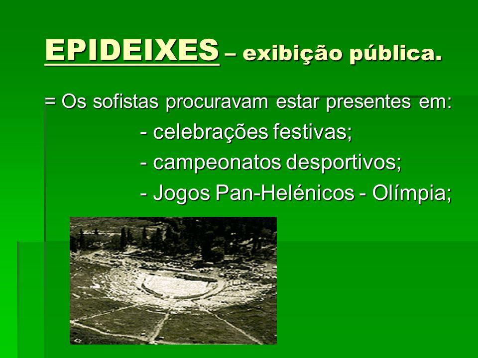 EPIDEIXES – exibição pública.