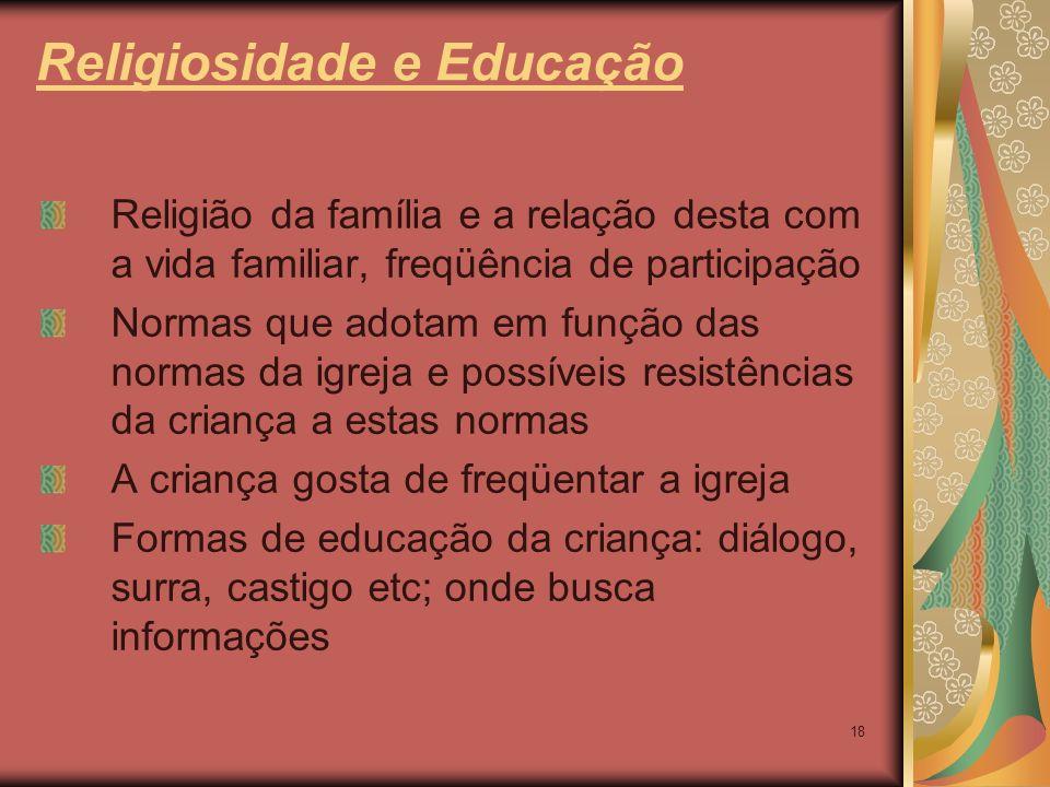 Religiosidade e Educação