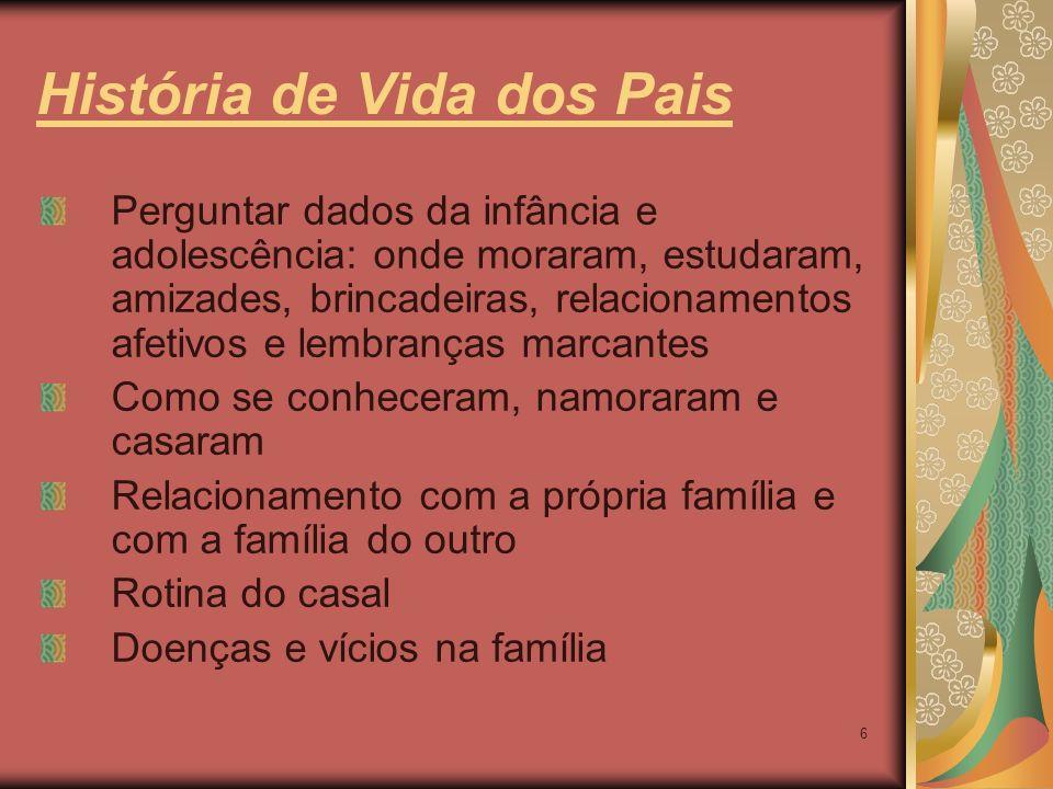 História de Vida dos Pais
