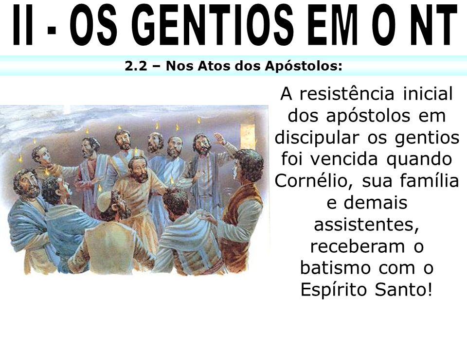 2.2 – Nos Atos dos Apóstolos: