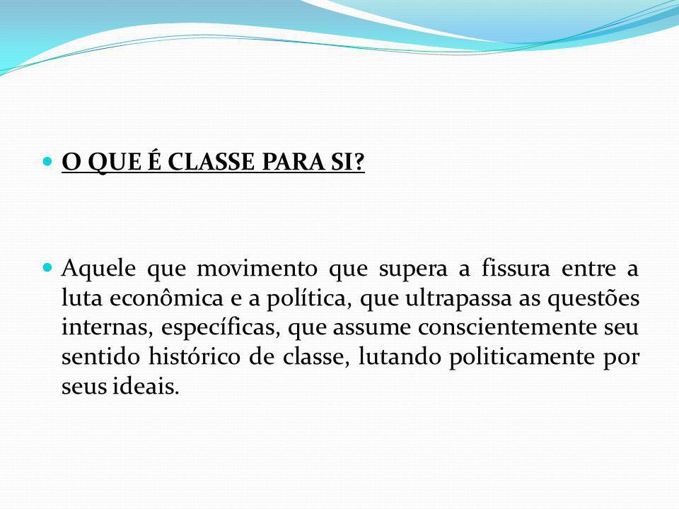 O QUE É CLASSE PARA SI