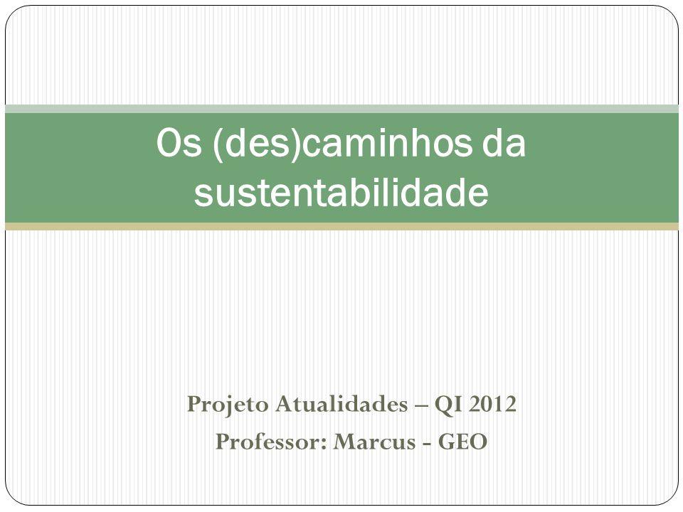Os (des)caminhos da sustentabilidade