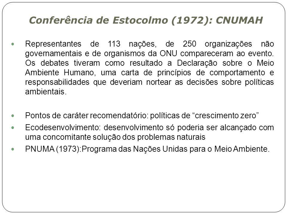 Conferência de Estocolmo (1972): CNUMAH