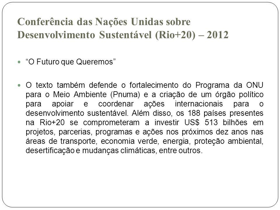Conferência das Nações Unidas sobre Desenvolvimento Sustentável (Rio+20) – 2012