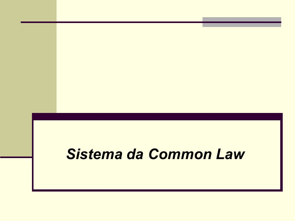 Sistema da Common Law