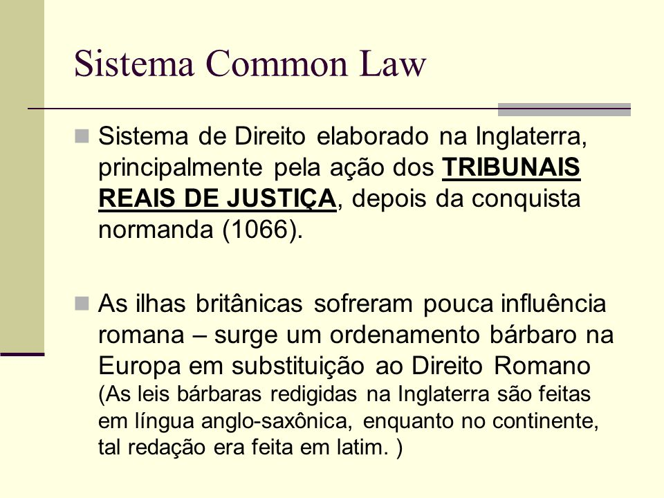 Sistema Common Law