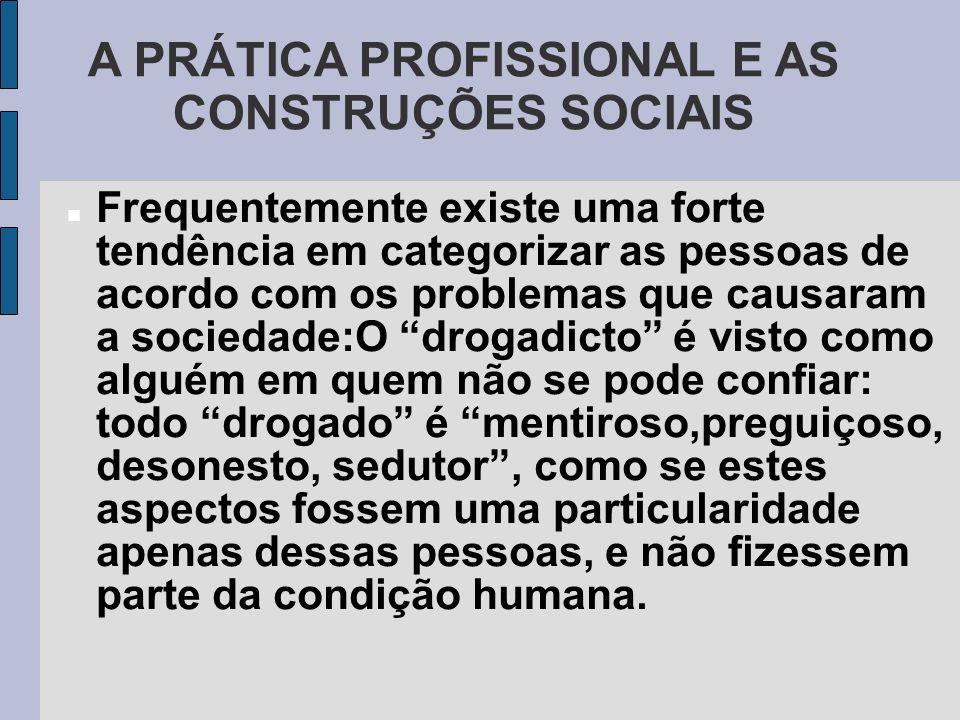 A PRÁTICA PROFISSIONAL E AS CONSTRUÇÕES SOCIAIS