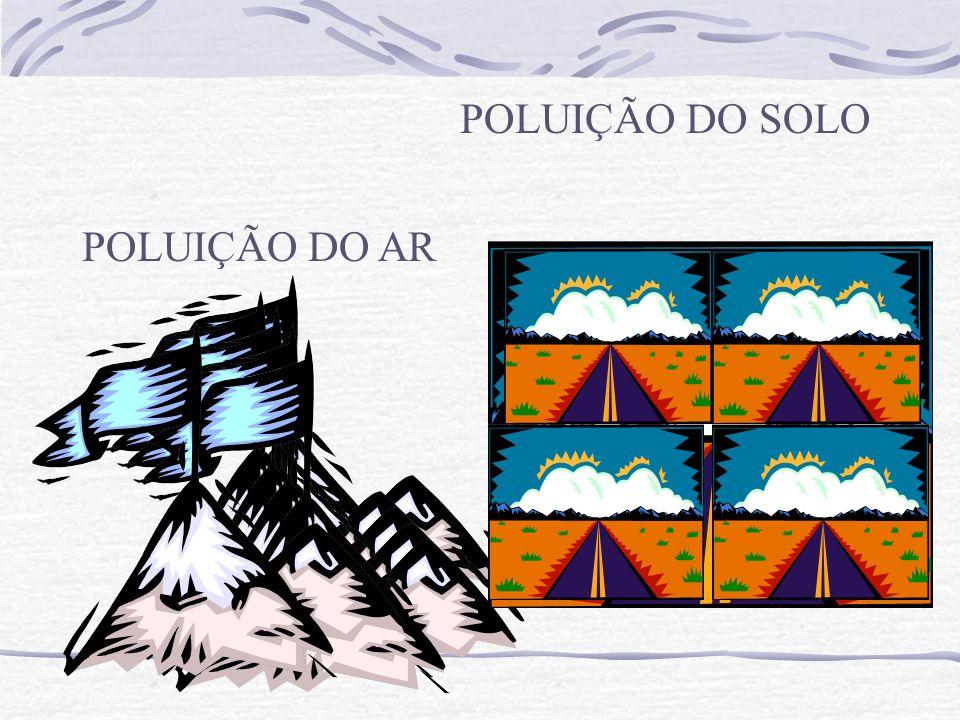 POLUIÇÃO DO SOLO POLUIÇÃO DO AR