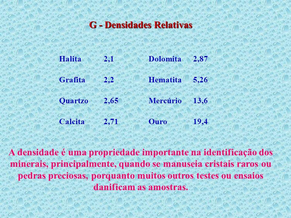 G - Densidades Relativas