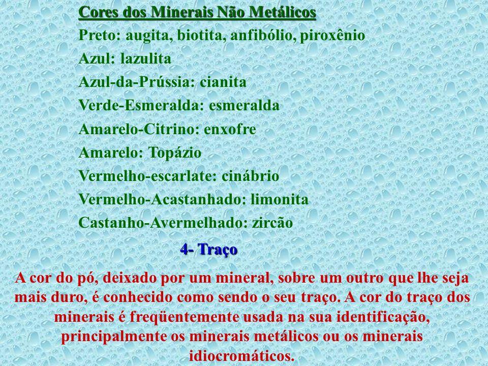 Cores dos Minerais Não Metálicos