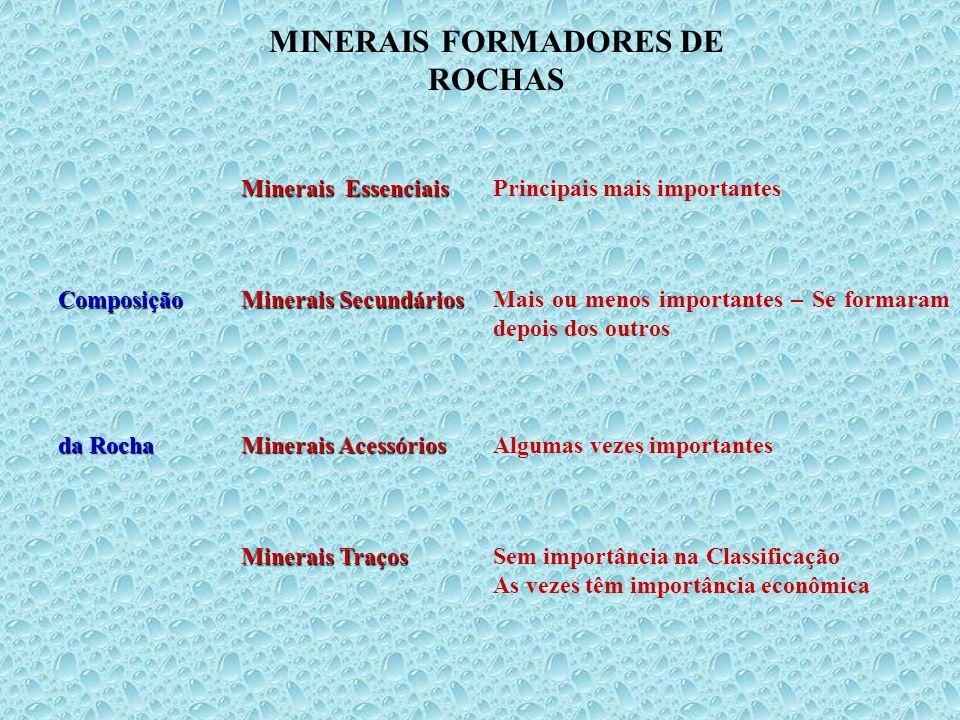 MINERAIS FORMADORES DE ROCHAS