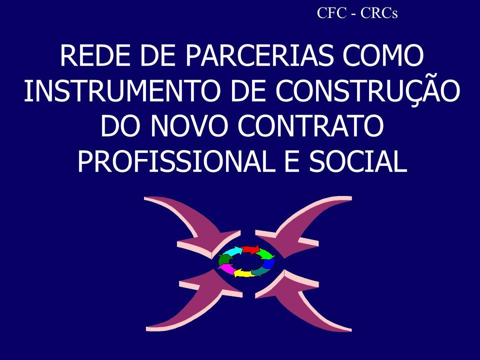 CFC - CRCs REDE DE PARCERIAS COMO INSTRUMENTO DE CONSTRUÇÃO DO NOVO CONTRATO PROFISSIONAL E SOCIAL