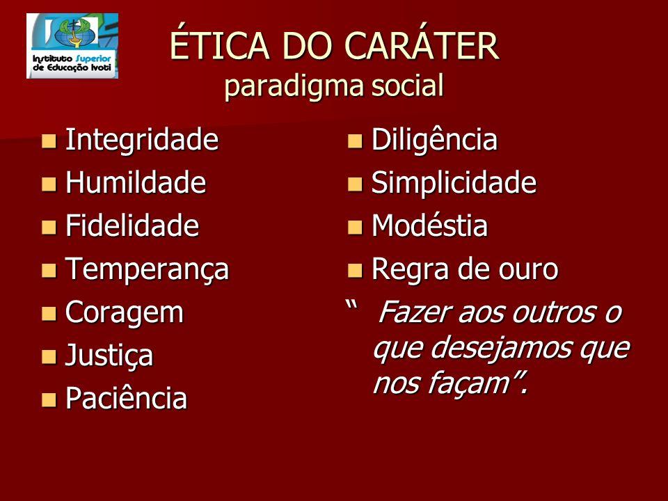 ÉTICA DO CARÁTER paradigma social