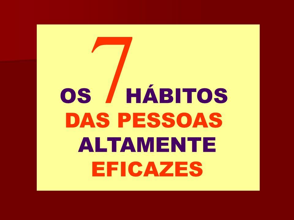 7 OS HÁBITOS DAS PESSOAS ALTAMENTE EFICAZES