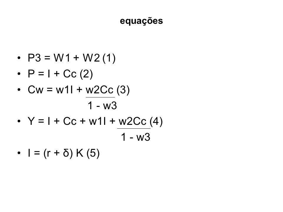 P3 = W1 + W2 (1) P = I + Cc (2) Cw = w1I + w2Cc (3) 1 - w3
