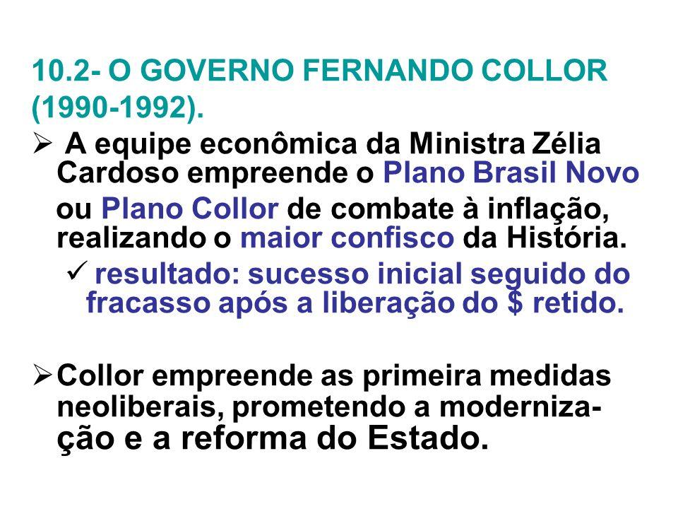 10.2- O GOVERNO FERNANDO COLLOR
