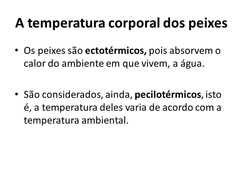 A temperatura corporal dos peixes