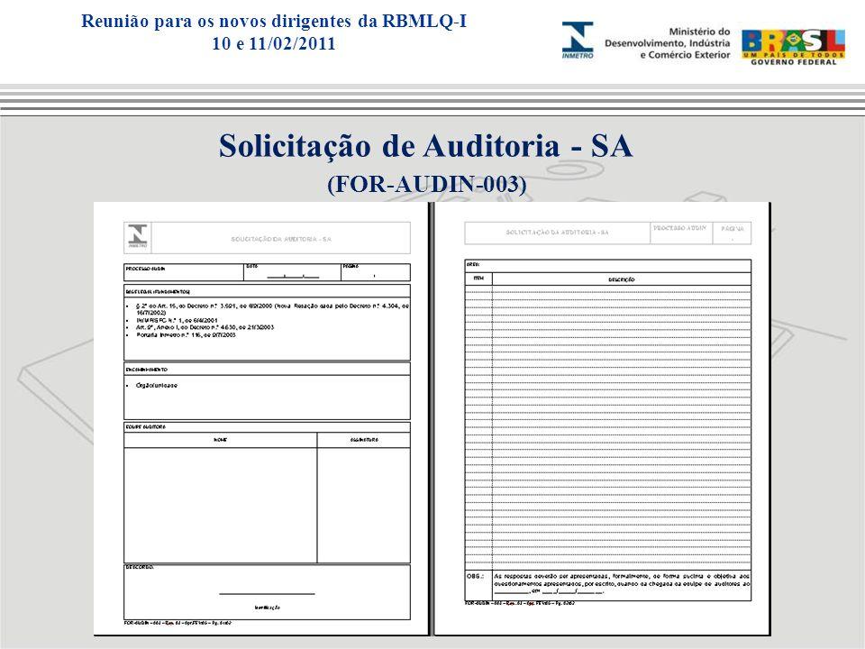 Solicitação de Auditoria - SA