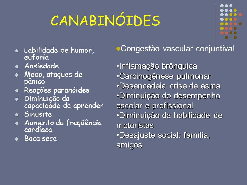 CANABINÓIDES Congestão vascular conjuntival Inflamação brônquica