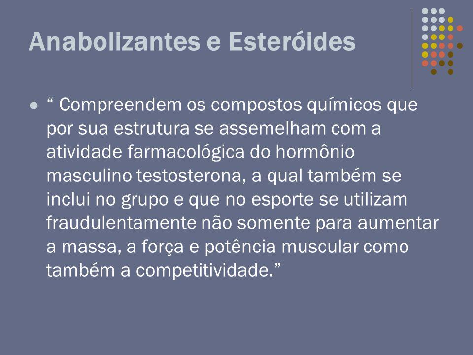 Anabolizantes e Esteróides