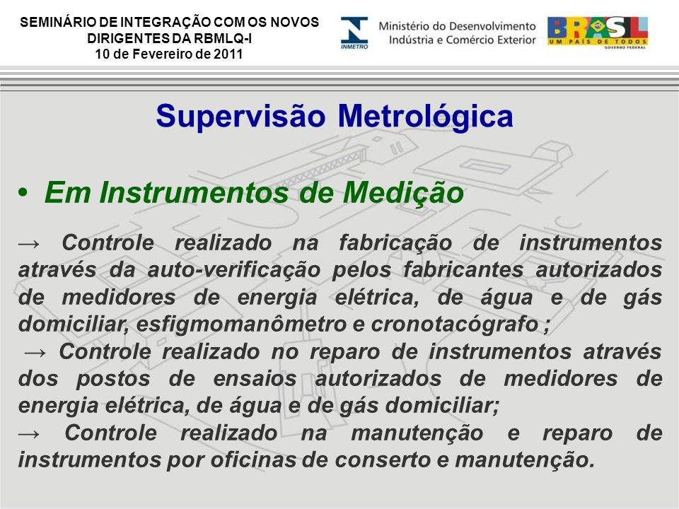 Supervisão Metrológica