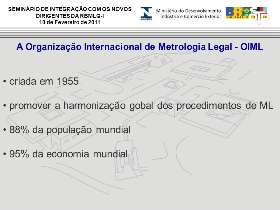 A Organização Internacional de Metrologia Legal - OIML