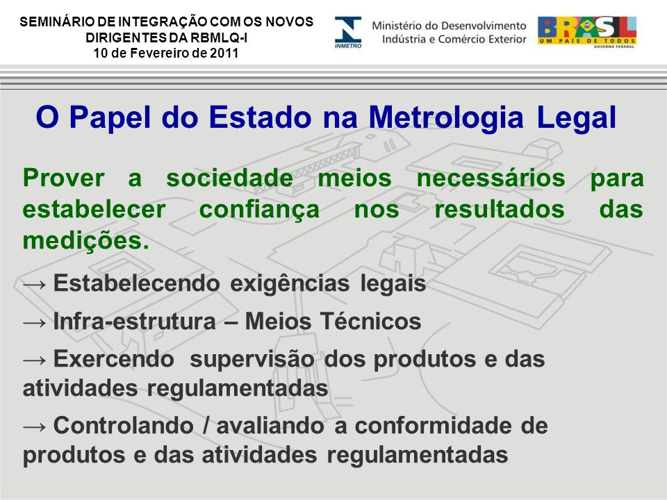 O Papel do Estado na Metrologia Legal