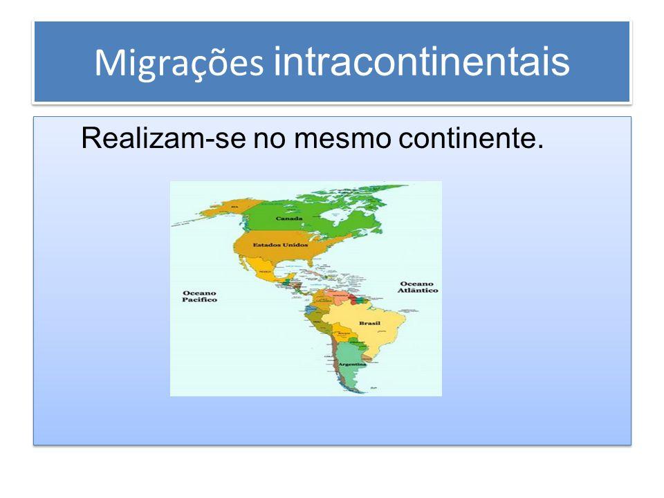 Migrações intracontinentais